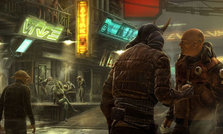 """Seductive Twi'lek"" // Star Wars 1313, Game Concept Art (game cancelled after Disney's purchase of SW Property)"