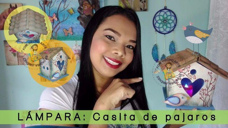 COMO HACER UNA LAMPARA CON FOAMI/ CASITA DE PAJAROS/ FOMI HECHO ARTE