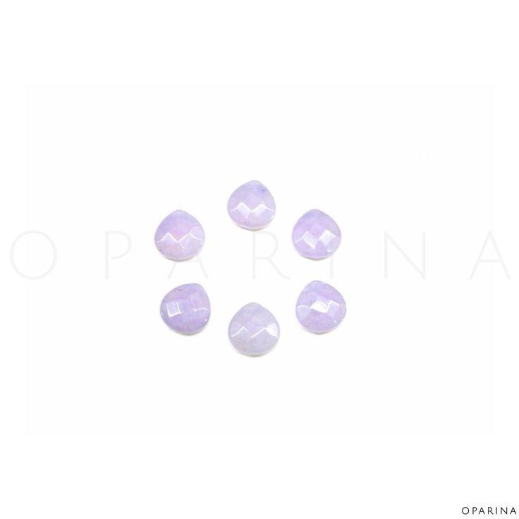 Gotas Jade Lila 18x15mm. #oparina #gemstone #naturalstone #jade #drop #boho #gypsy #diy #madewithstudio