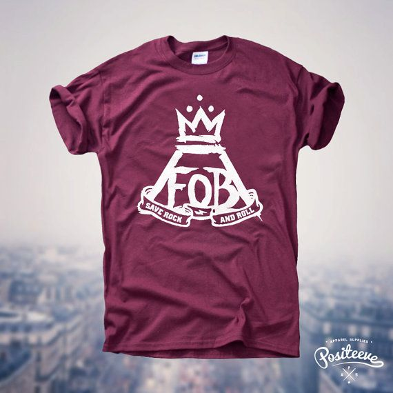 FOB Fall Out Boy Logo Tour Save Rock and Roll Music Fan Tumblr Top T-shirt UNISEX ~size small~