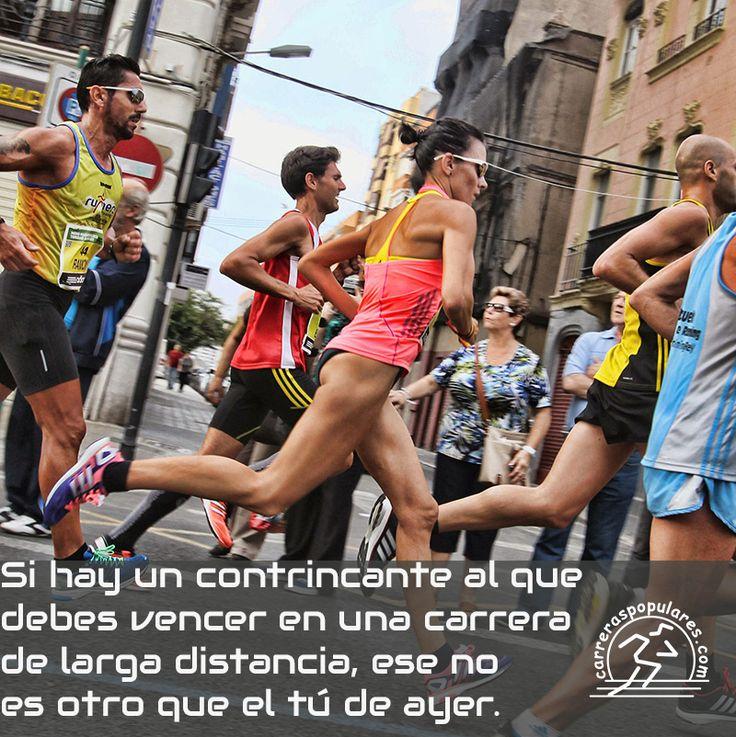 Si hay un contrincante al que debes vencer en una carrera de larga distancia, ese no es otro que el tú de ayer.