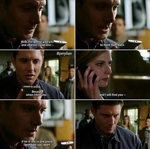 Protective Dean <<rightfully so the accent in a suit is really evil