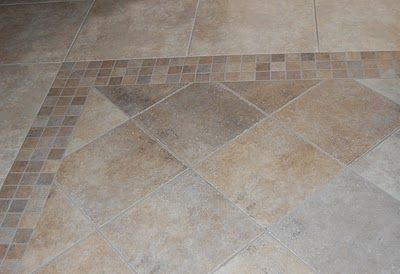 Floor Tile With Border At Diagonal Tile Floor Flooring