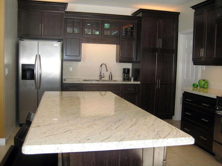 Best Kashmir White Granite With Dark Cabinets Kitchens 640 x 480