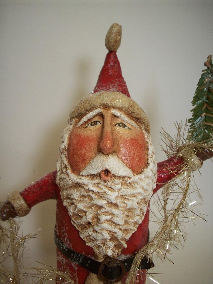 1000 images about folk art papier mache clay on pinterest for Paper mache christmas