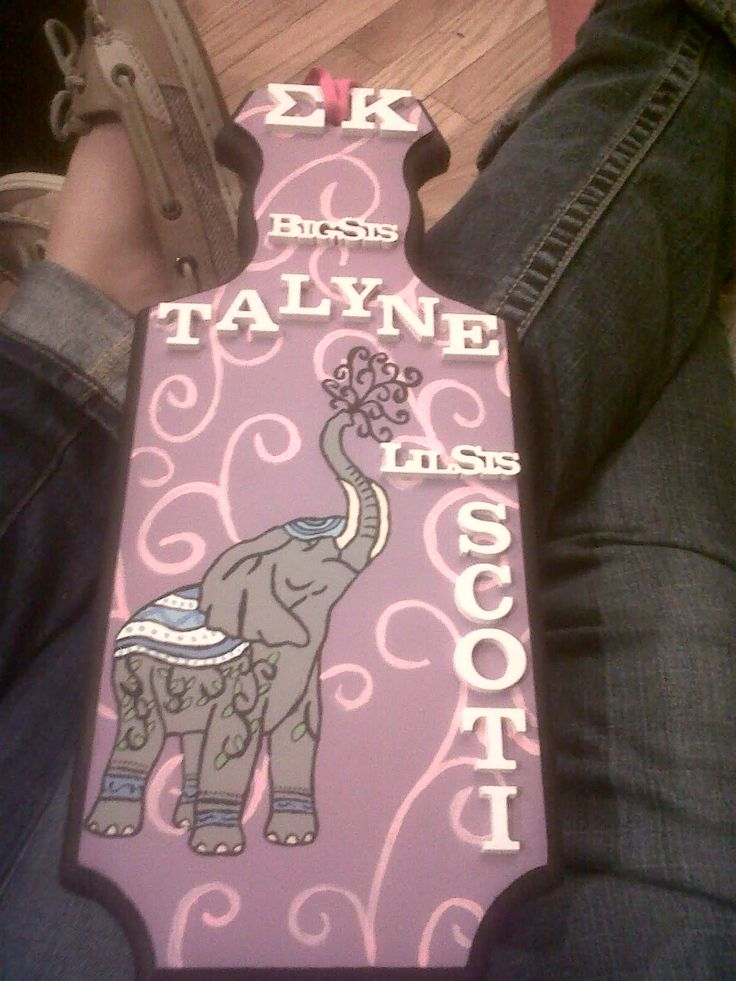 sorority paddles | Tags: elephant tattoo sorority paddle sigma kappa