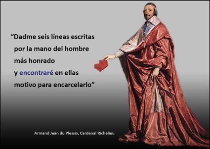 Sesgo de Confirmación / Tarjeta Richelieu / Artículo completo: http://sharingideas-josecavd.blogspot.com.es/2014/05/sesgo-de-confirmacion-sesgos-cognitivos.html