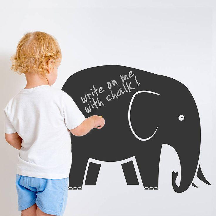 elephant chalkboard wall sticker by snuggledust studios | notonthehighstreet.com