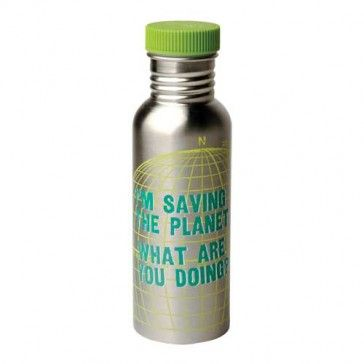 I'm saving the planet. What are you doing? http://www.dannabananas.com/stainless-steel-water-bottle/