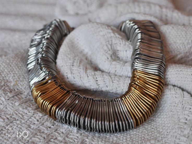Naszyjnik wąż z zawleczek  w bÓ biżuteria na DaWanda.com