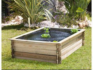 estanque de pino tratado bois