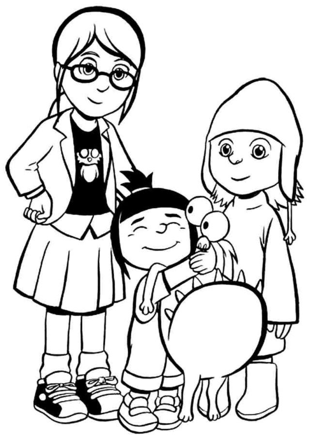 Creative Photo of Despicable Me 3 Coloring Pages | Minion ...