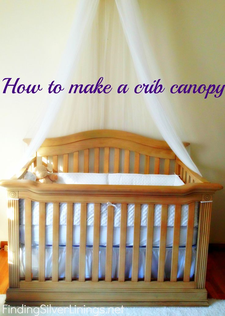 Crib canopy DIY- this mama puts one together for around $13! My kinda DIY project:)