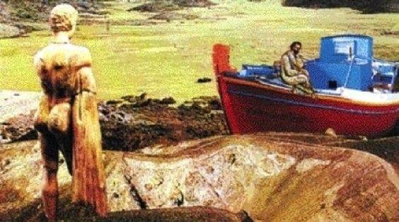 Odysseas Elytis : Le Soleil * Ο Ήλιος (Όμορφη και παράξενη πατρίδα). Collage O.Elytis