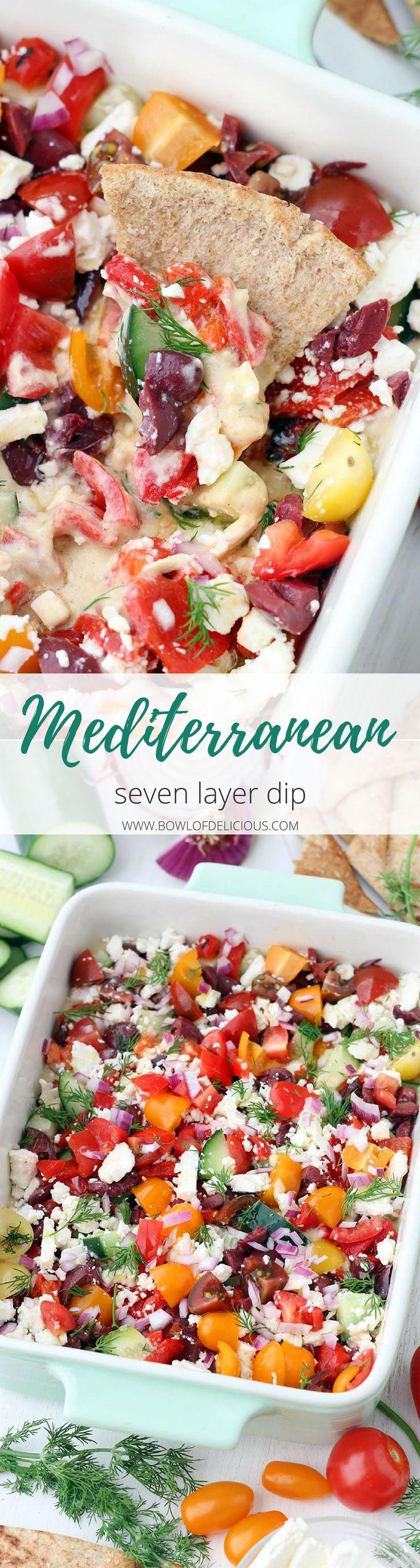 This Mediterranean Seven Layer Dip