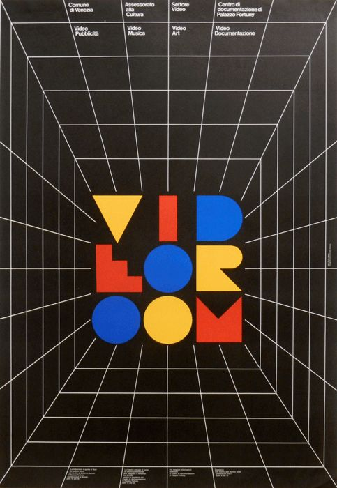 Video Room Video pubblicità - Video Musica - Video Art - Video Documentazione  Stampa: Tipografia Commerciale Venezia. Progetto grafico di Giulio Cittato (1936-1986), Studio Signo.
