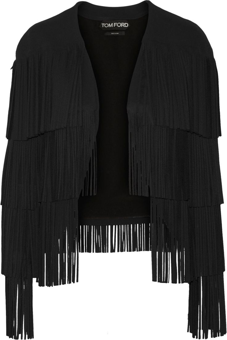 Fringed stretch-cady jacket | TOM FORD | Sale up to 70% off | THE OUTNET