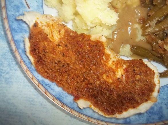 Kurczak z pastą curry