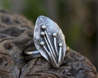 Ramo anello anello in argento sterling ramoscello di aifosjewels