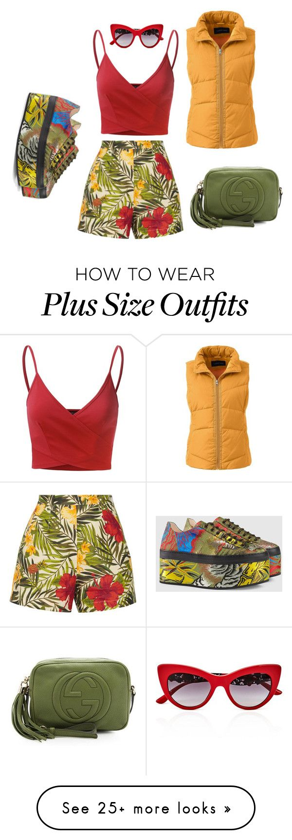 """""""colours"""" by roushanbouzo on Polyvore featuring Miguelina, Gucci, Lands' End, Doublju, Dolce&Gabbana and plus size clothing"""