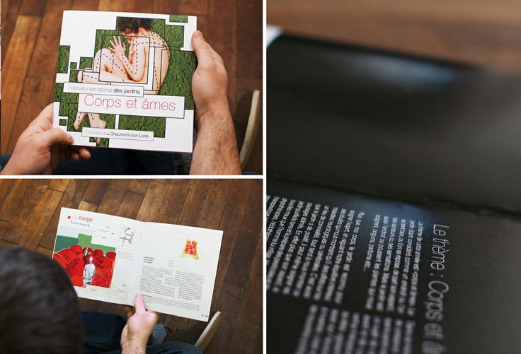 Réalisation de l'affiche et déclinée sous forme de livre pour le festival des Jardins de Chaumont.