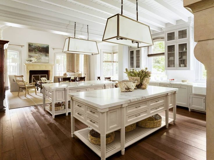 A Warm White Kitchen In A A California Mansion With Sumptuous French  Sensibilities