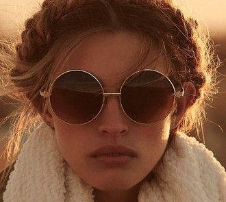 sunglasses boho pretty round sunglasses hair/makeup inspo