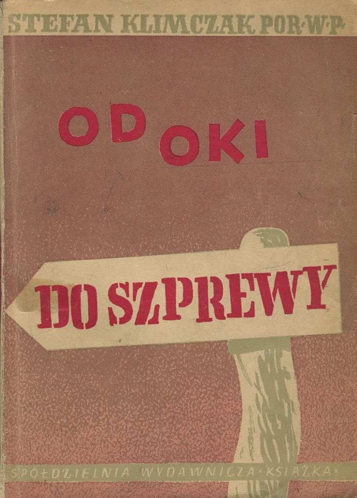 Book cover by Henryk Tomaszewski, Warszawa 1945.