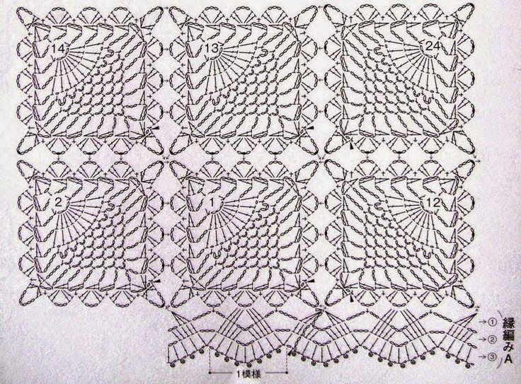 motivi crochet schemi