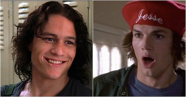 """5. Ashton Kutcher auditioned for the role of Patrick Verona in  """"10 Things I Hate About You."""" He was beat out by Heath Ledger."""
