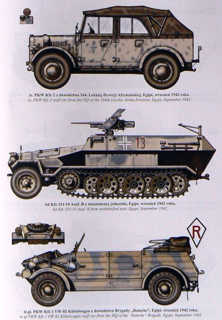 Afrika Korp vehicles