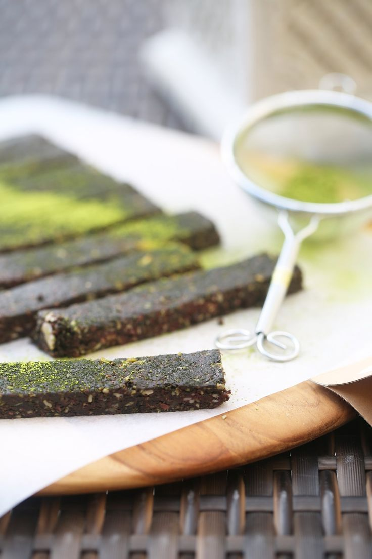 These delicious 10 minute bars are a great way to incorporate antioxidant rich matcha in your life! The perfect energy boosting afternoon snack.