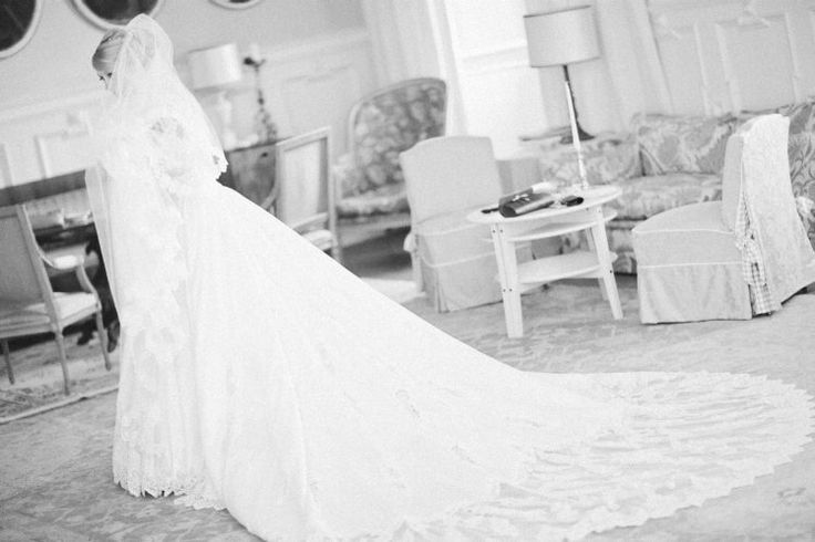 Long Wedding dress.
