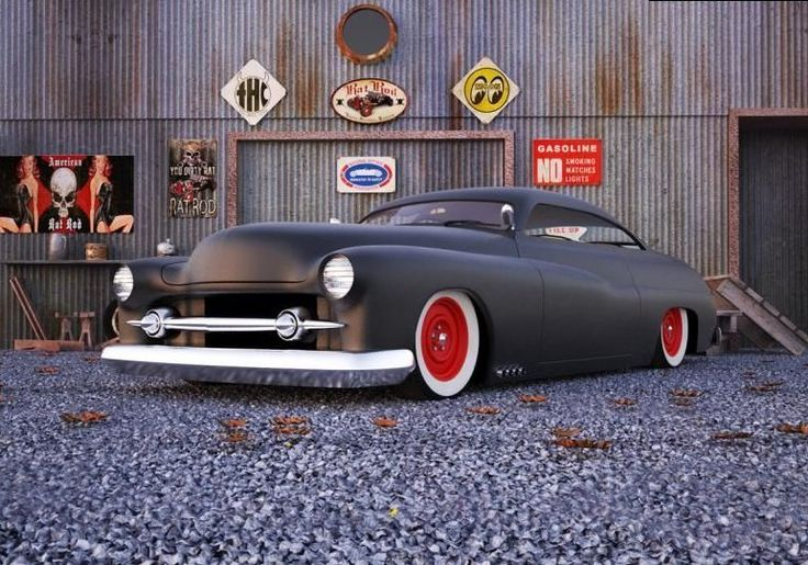1949 Mercury Eight Lead Sled Hot rods and sleds and cool