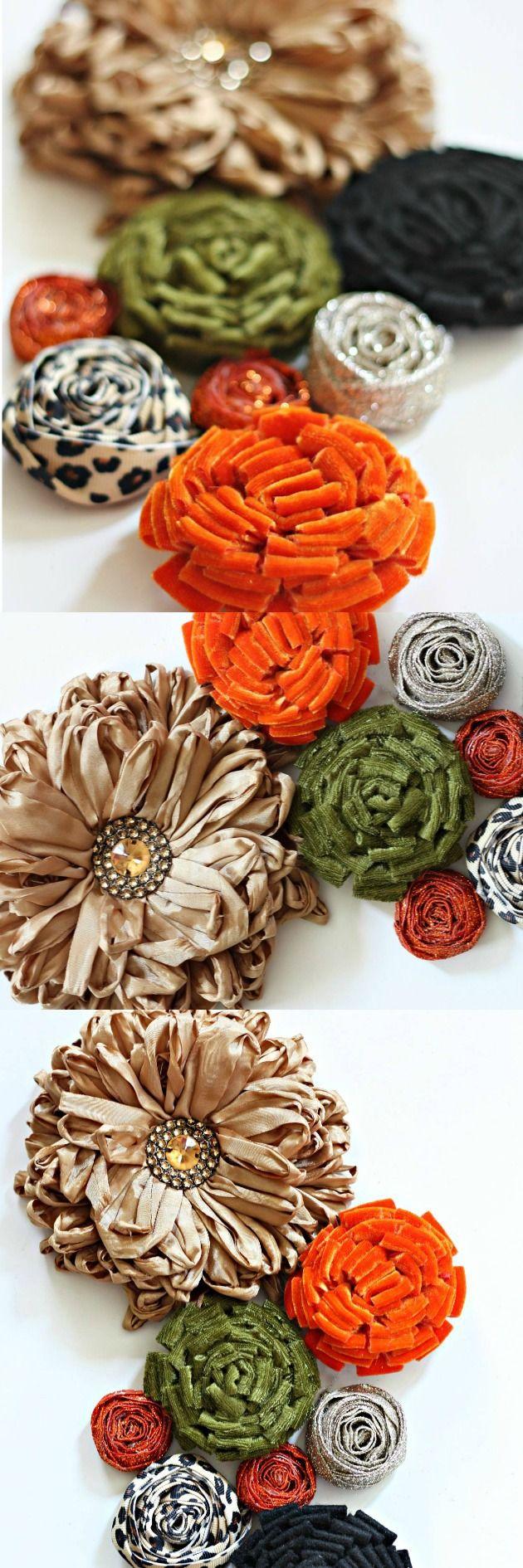 How to make a Posie and Rosette Cluster using Velvet, Felt and Ribbon