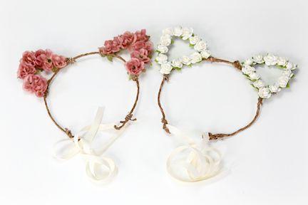 Show Me Cute: Floral Cat Ears | DIY