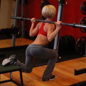 If i had a spotter i'd do with with the bar instead of the dumb bells ! Once my husband comes home will be doing these!
