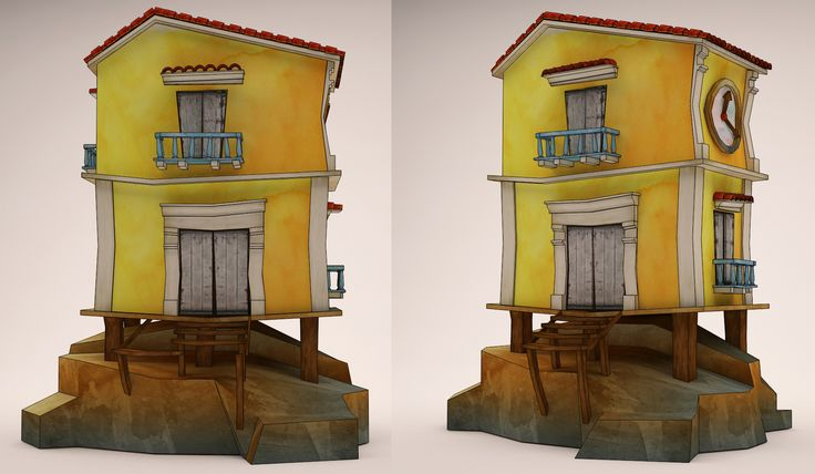 casa caribe  low poly 3d  #3dmax #zbrush #character3d #characterdesign