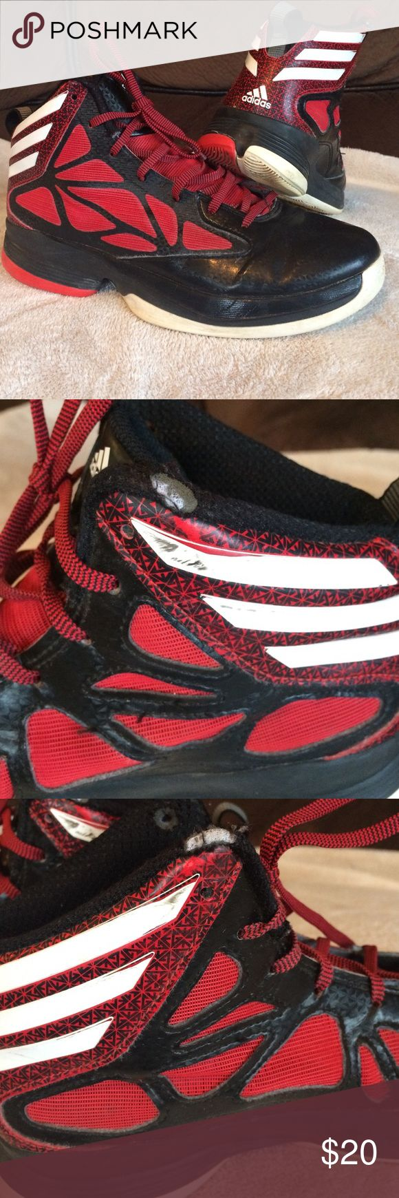 Adidas Basketball Shoes Only worn one season.  Some scuffs(see pictures). Adidas Shoes Athletic Shoes