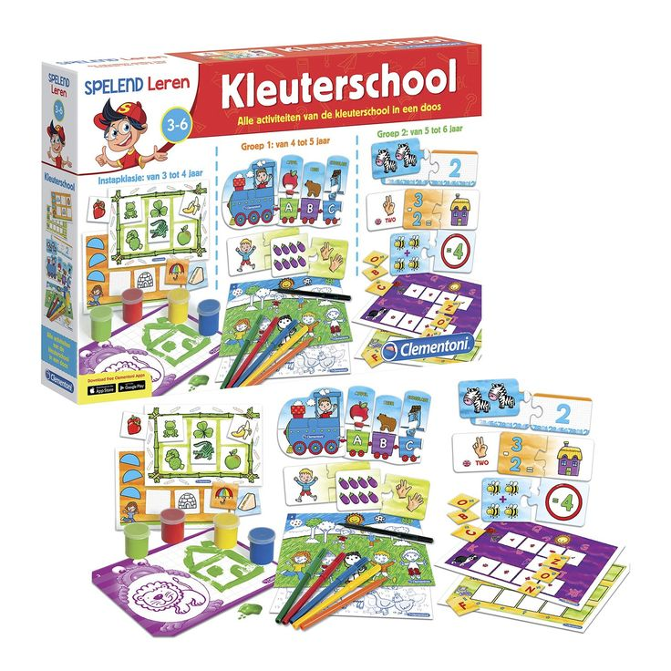 Alle activiteiten van de kleuterschool in één doos! Hier zitten 12 fantastische spellen in die je zullen helpen bij de cognitieve ontwikkeling van tussen je derde en zesde jaar. Zo word je goed voorbereid voor je eerste letters en cijfers! Wanneer je net begint, met de leeftijd van 3-4 jaar, krijg je vingerverf, vormenbingo en kleurkaarten. Als je hiermee bent uitgespeeld, dan is het tijd voor een stapje verder. Bij de leeftijd van 4-5 jaar krijg je de alfabettrein en puzzelstukken, die gaan…