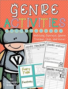 Genre Matching, Surveys, Book Review, Quiz, Compare and Contrast, and more!