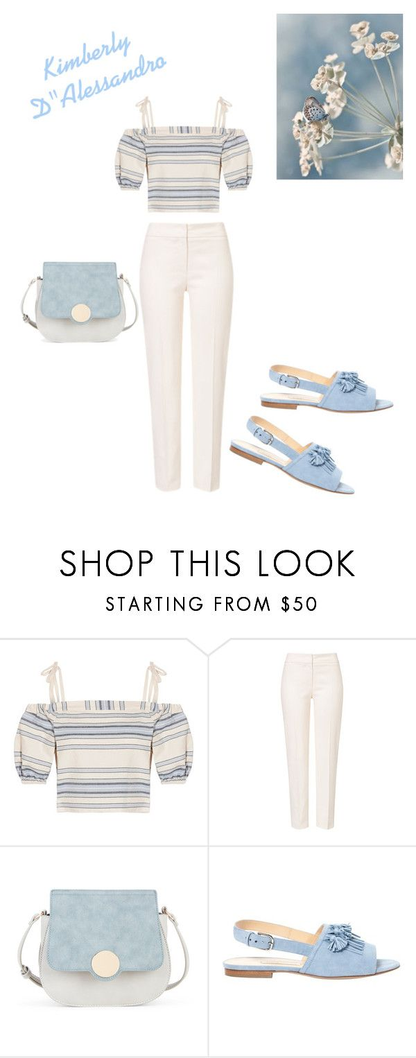 """Having The Blues On A Beautiful Spring Day"" by kimberlydalessandro ❤ liked on Polyvore featuring Lemlem, ESCADA, Sole Society and Bionda Castana"