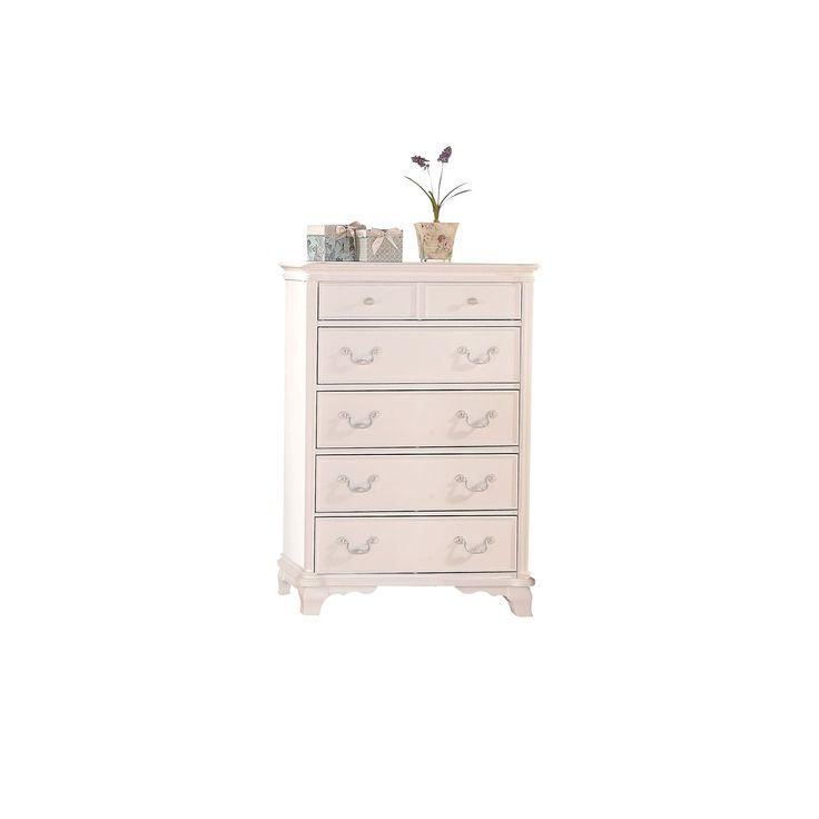 """Acme Furniture Ira White 5-drawer Chest (Chest, White, 34 x 18"""" x 48""""H)"""