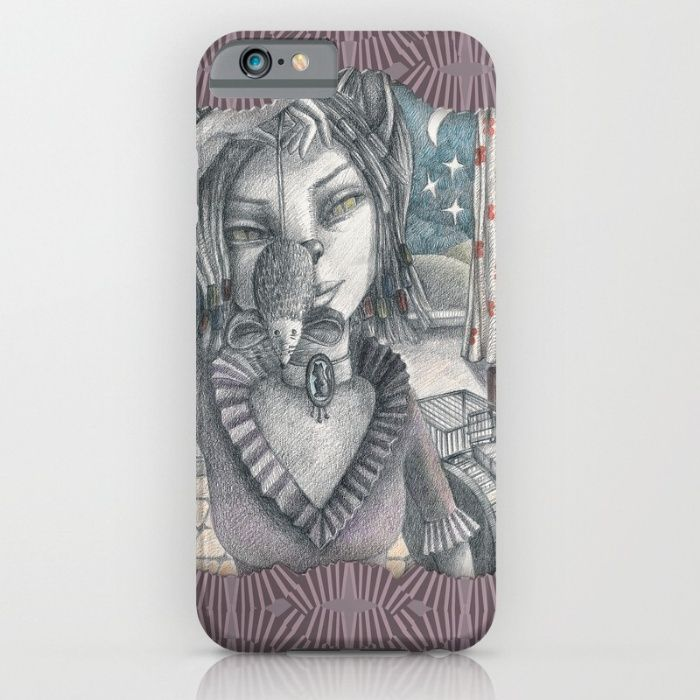 Cat metamorphosed iPhone & iPod Case https://society6.com/product/cat-metamorphosed_iphone-case#9=375&52=377 #society6 #catwoman #cat #mouse #metamorphosed #Tales of La Fontaine