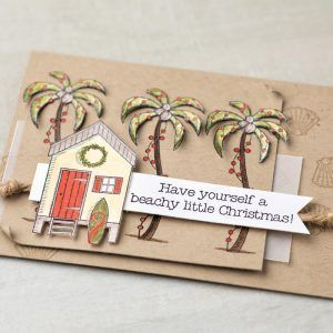 What a fun Holiday card featuring the Beachy Little Christmas Stamp Set by Stampin' Up!