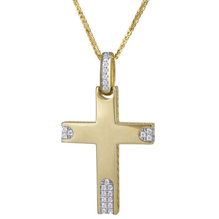 Βαπτιστικός σταυρός με αλυσίδα Κ14 C024183