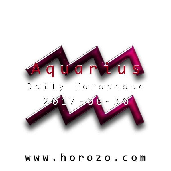 Aquarius Daily horoscope for 2017-06-30: You're feeling much more in touch with your emotions today, so it's a great time for heart-to-hearts, even as you find it harder to deal with regular, day-to-day business. Take the day off, if you can.. #dailyhoroscopes, #dailyhoroscope, #horoscope, #astrology, #dailyhoroscopeaquarius