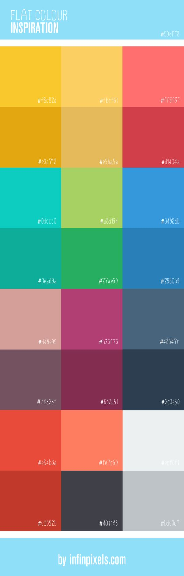 Flat Colour Inspiration for Web Design [Infographic]