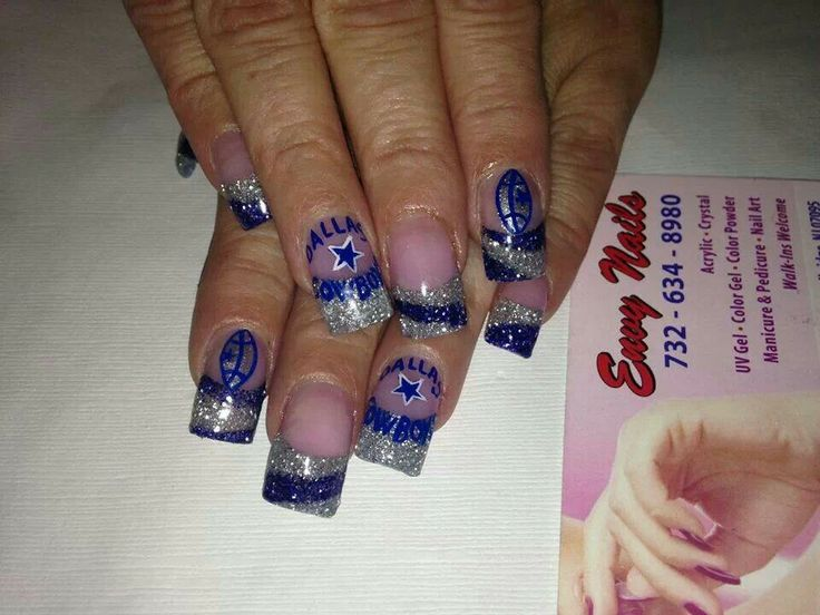 55 best dallas cowboys nail designs images on pinterest dallas cowboy nails prinsesfo Image collections