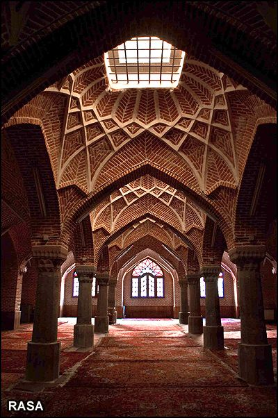 Sadeqie Historical Mosque in Tabriz, Iran